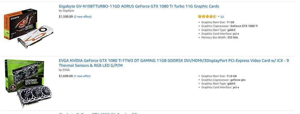 AMD Vega 64 NVIDIA GTX 1080 Ti madness price 2