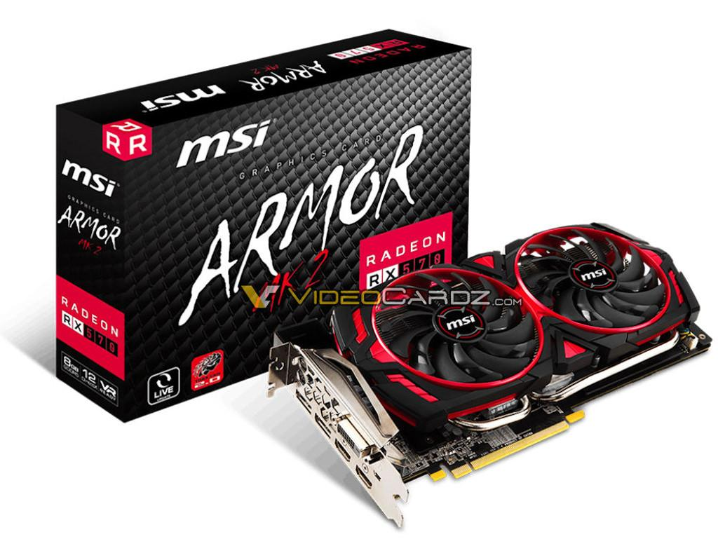 MSI готовит серию видеокарт Radeon RX 500 Armor MK2