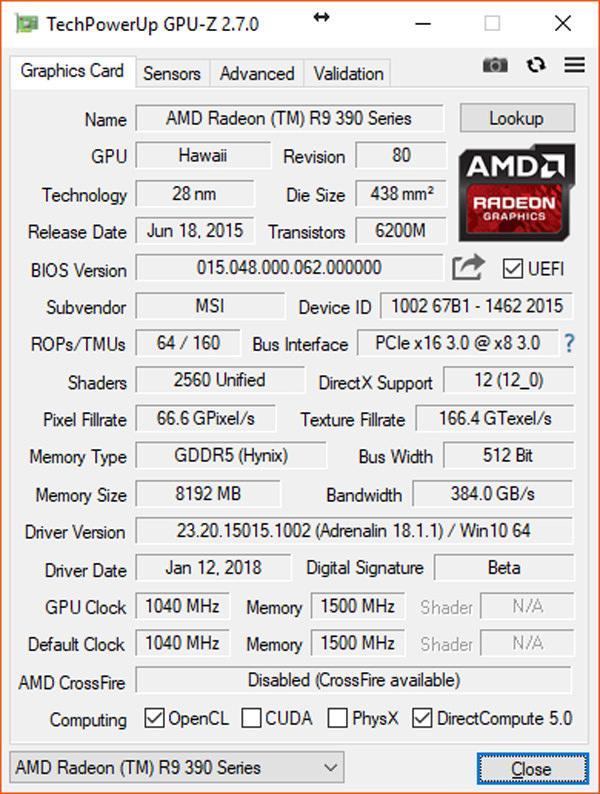 TechPowerUp GPU Z v2.7.0