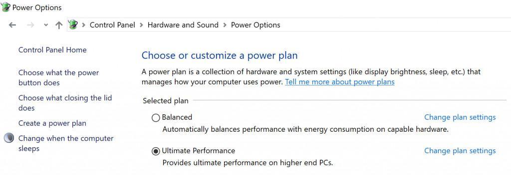 Windows 10 Ultimate Performance Mod