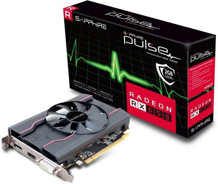 Sapphire представила видеокарту Radeon RX 550 Pulse необычной конфигурацией ядра