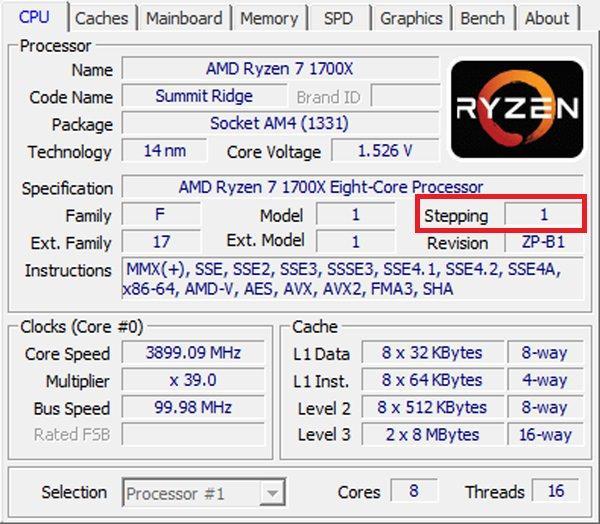 AMD Ryzen stepping2 2