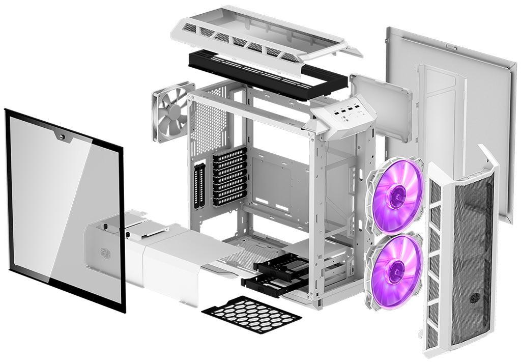 Cooler Master MasterCase H500P Mesh White 1