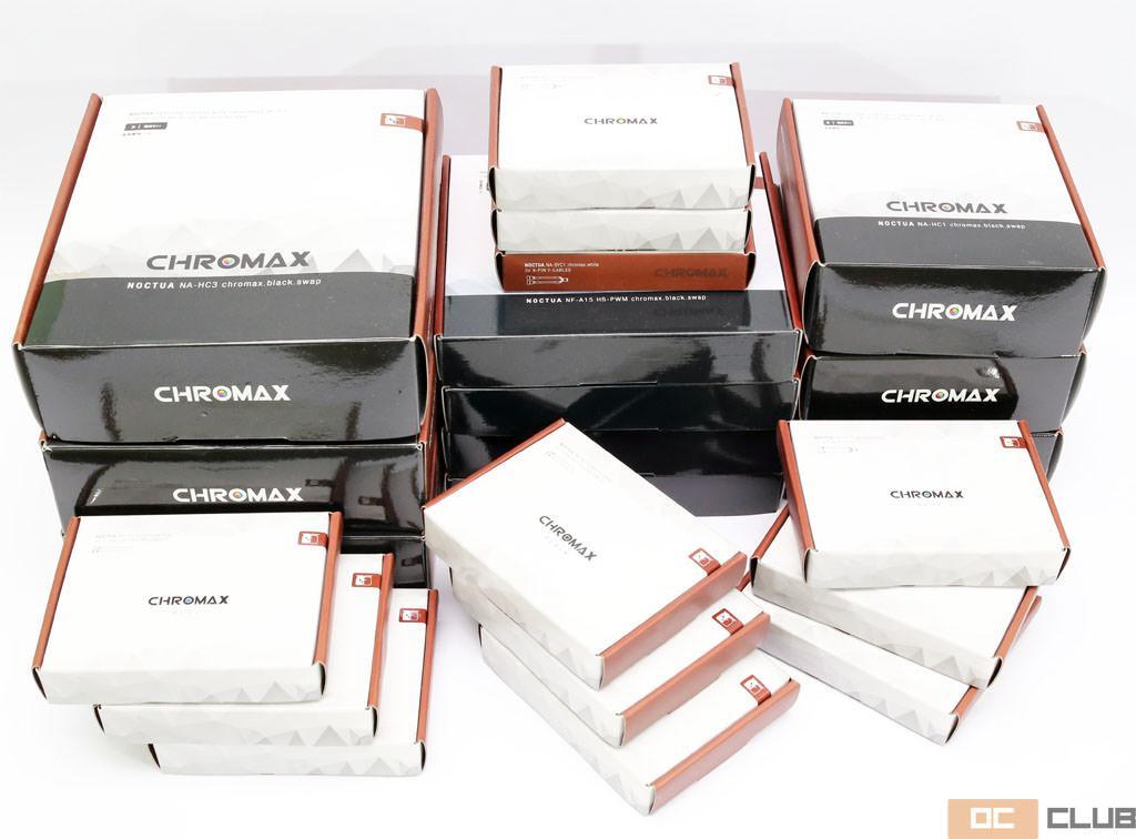 Обзор слегка обновленных вентиляторов Noctua NF-A14, NF-A15, NF-F12 и NF-S12A, а также цветных аксессуаров линейки Chromax