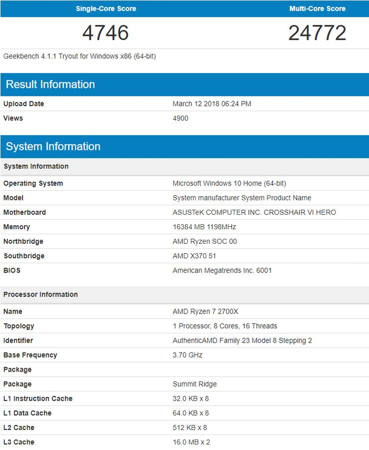 AMD Ryzen 7 2700X 1