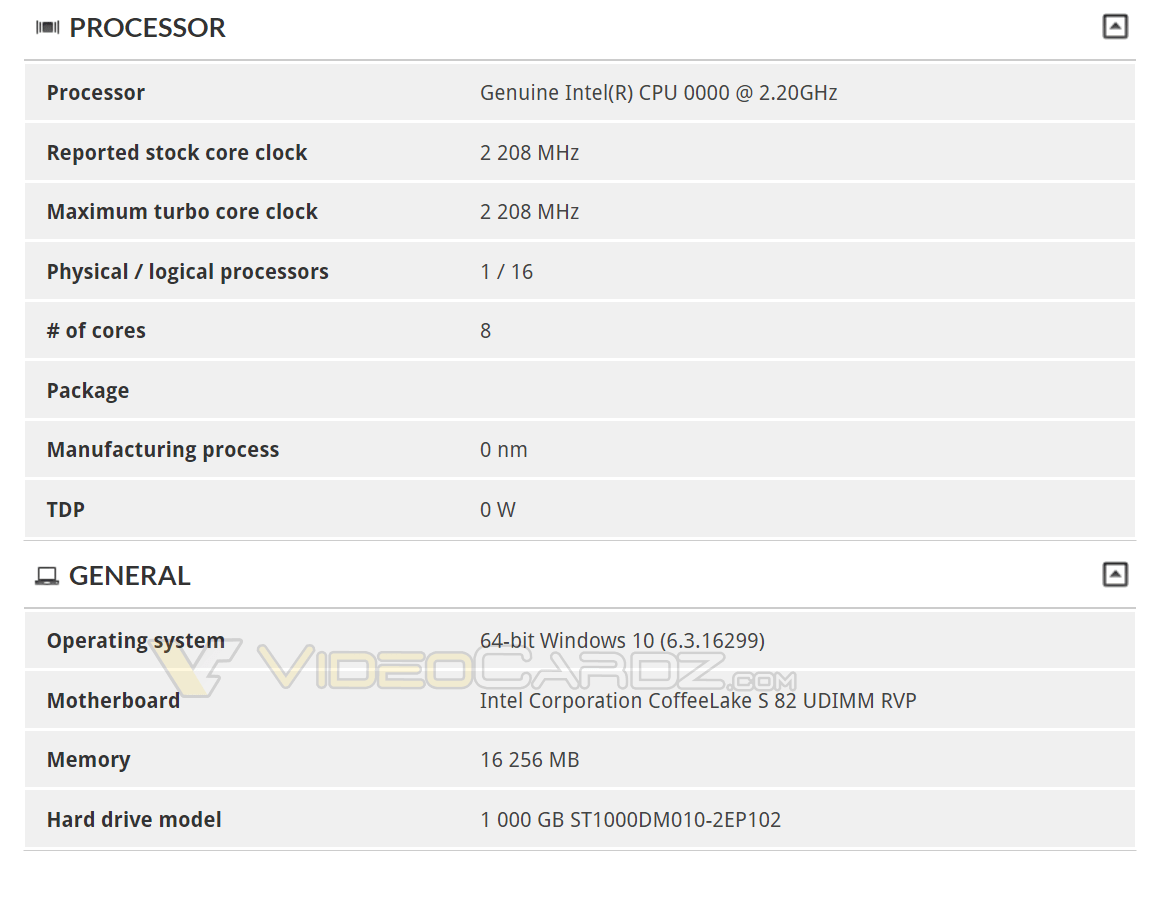И снова замечен 8-ядерный процессор Intel Coffee Lake