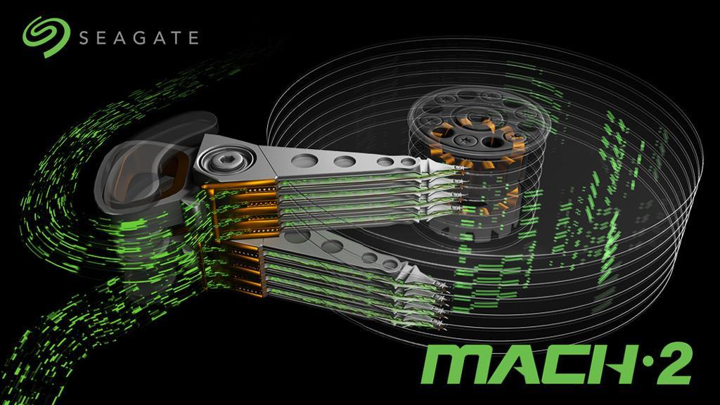 Seagate показала технологию MACH.2 Multi-Actuator. И скорость в почти 500 МБ/с у жёсткого диска