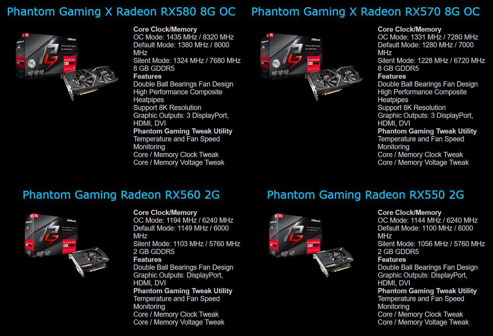 ASRock Radeon RX 500 Phantom Gaming 3