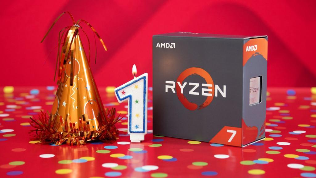 AMD Ryzen 1 year celebration