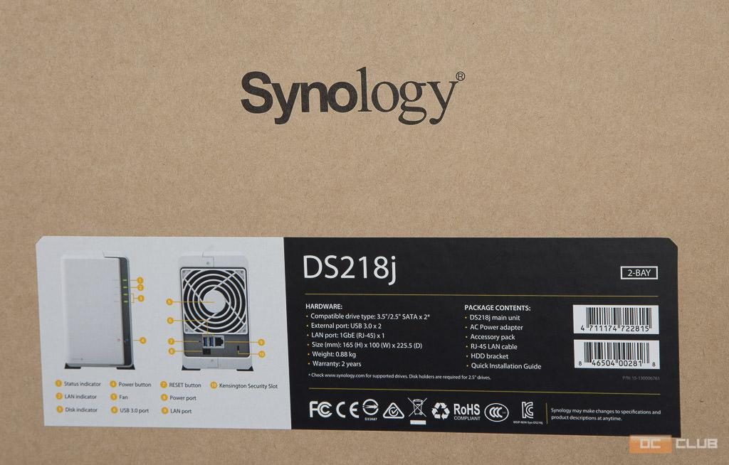 synology ds 218j 24