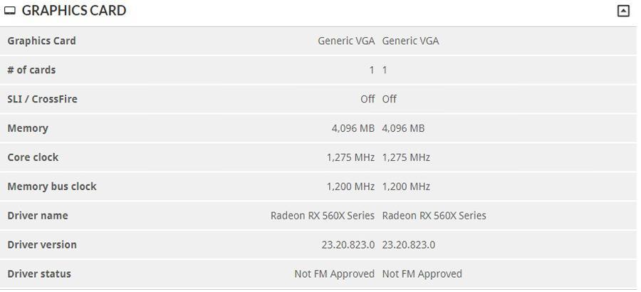 AMD Radeon RX500X 3