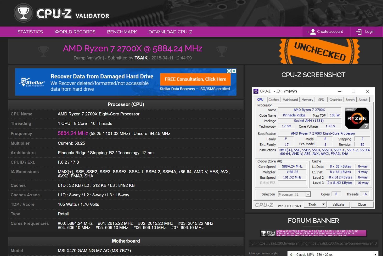 AMD Ryzen 7 1700X extreme OC 1