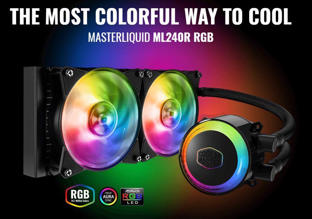 Cooler Master выпустила СВО MasterLiquid ML240R и ML120R RGB – первая «вода» с адресными диодами