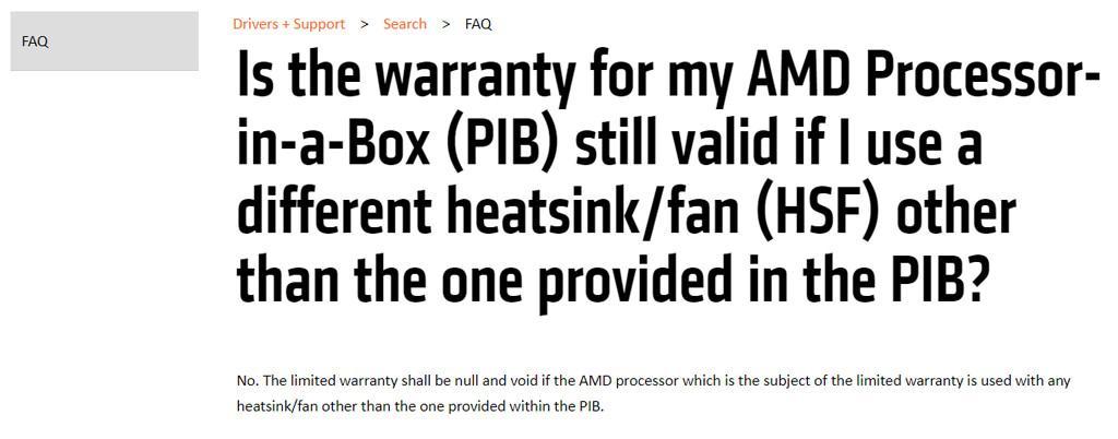 AMD warranty cpu 1
