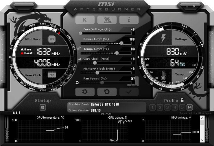 MSI Afterburner обновлена до версии 4.5.0