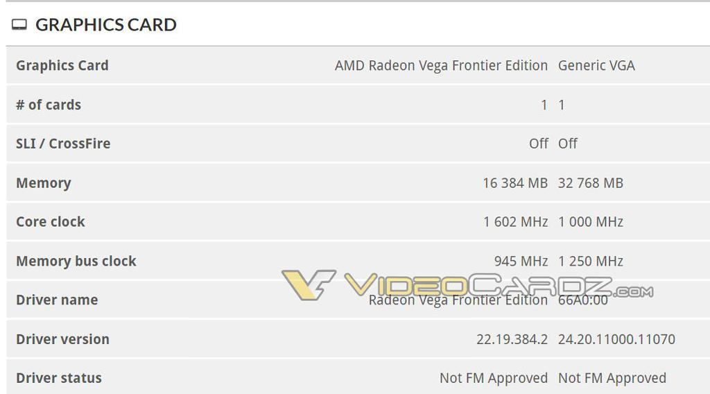 AMD Vega 20 vs Vega Frontier 3DMark 1