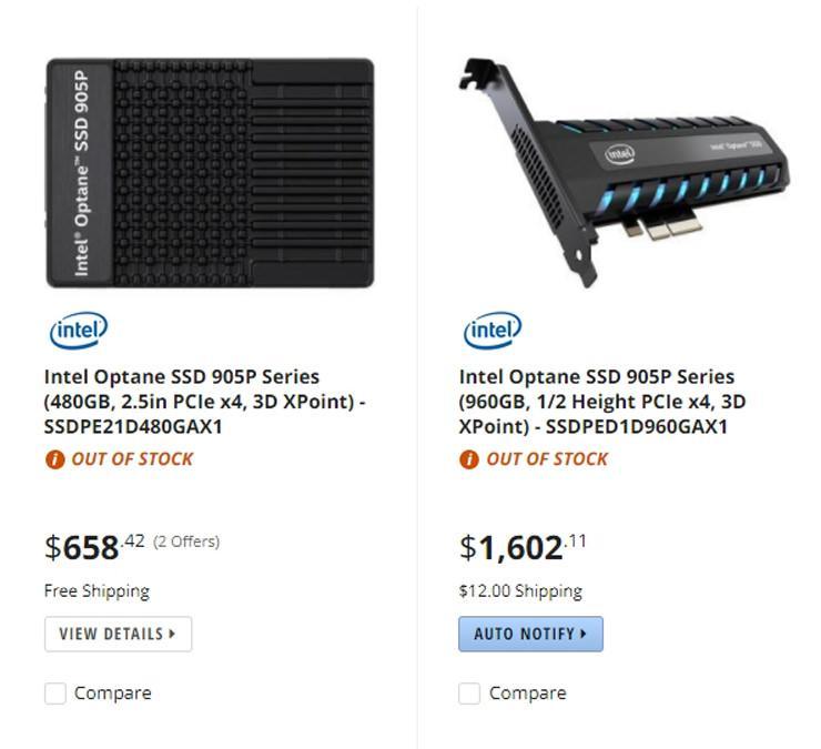 Intel Optane SSD 905P 4