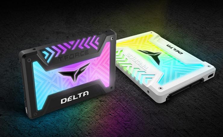 Team выпускает T-Force Delta RGB – первый SSD-накопитель с RGB-подсветкой