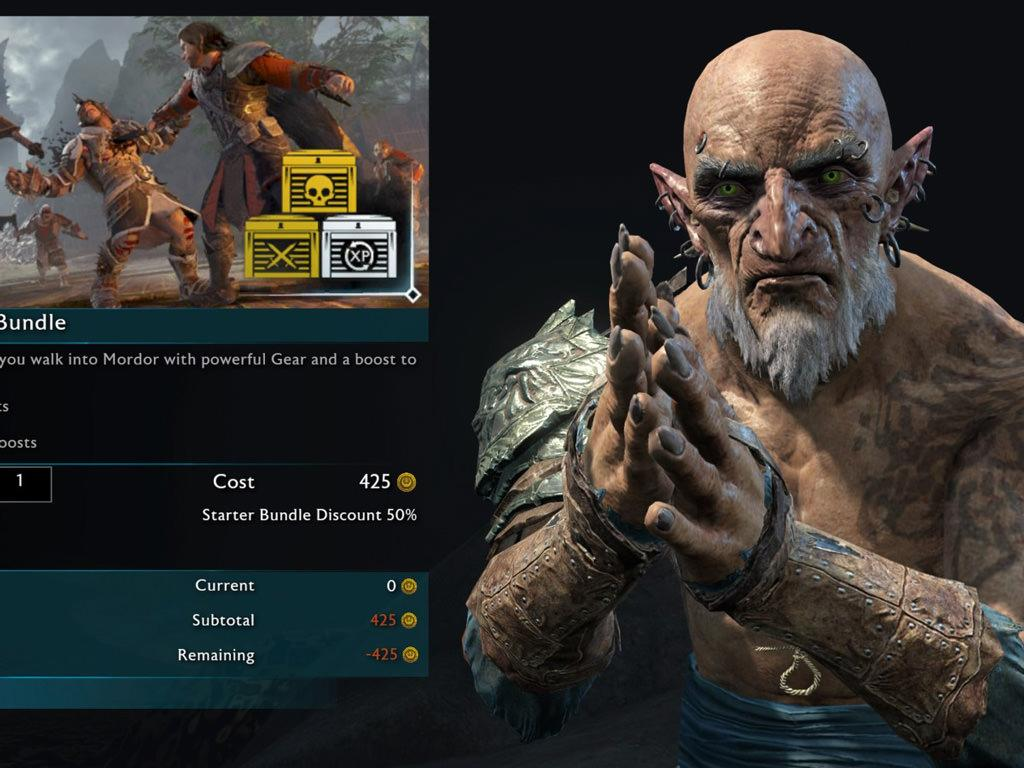 middle earth shadow of war microtransactions 2
