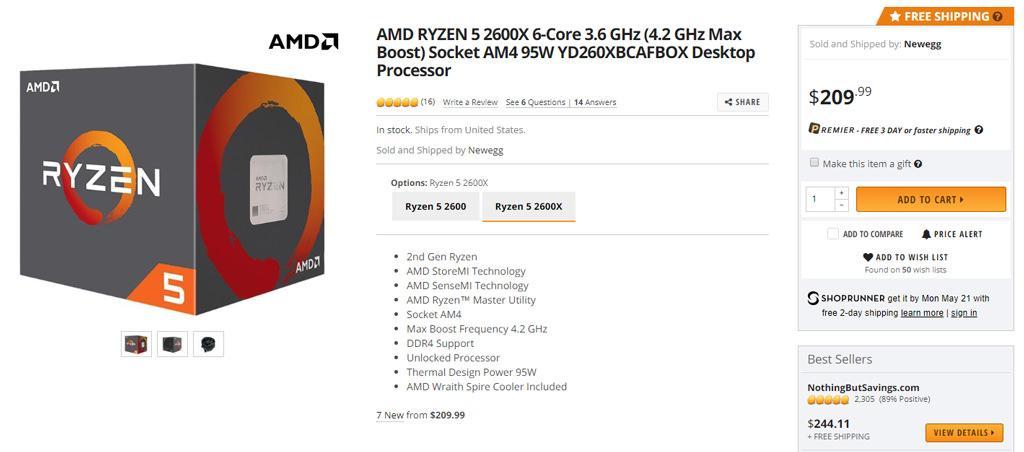 Аукцион невиданной щедрости с участием 6-ядерных процессоров AMD Ryzen 2000