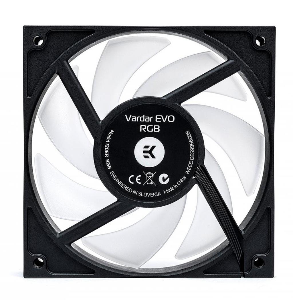 EK-Vardar EVO 120 ER RGB – корпусные вентиляторы с возможностью полной остановки крыльчатки