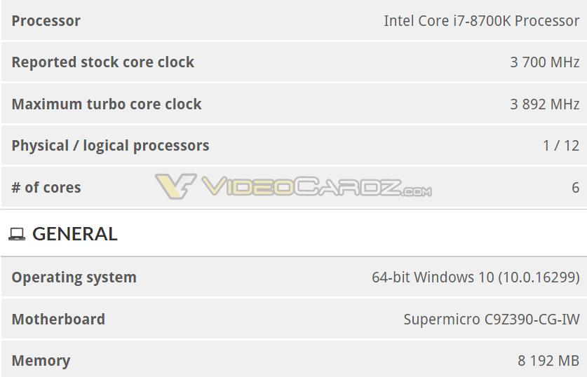 Intel Z390 Core 8700K