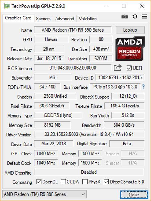 Утилита GPU-Z обновлена до версии 2.9.0