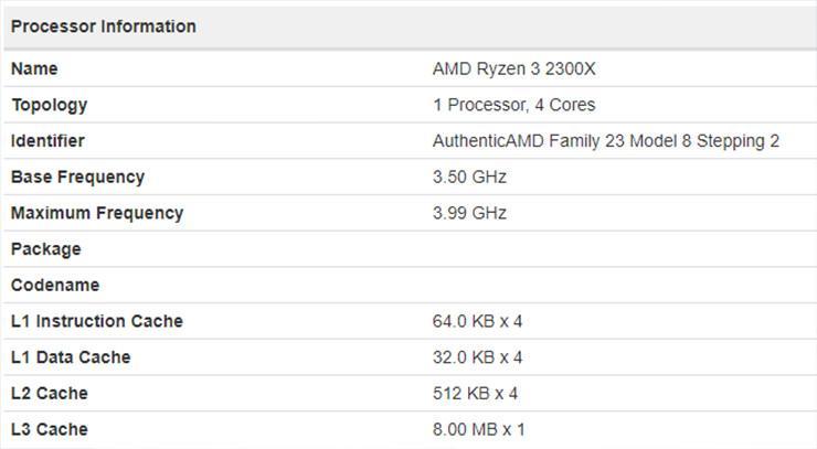 AMD Ryzen 3 2300X 1