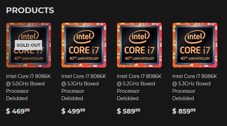 Intel Core i7 8086K Silicon Lottery