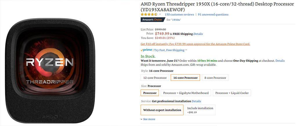 AMD Ryzen Threadripper sale