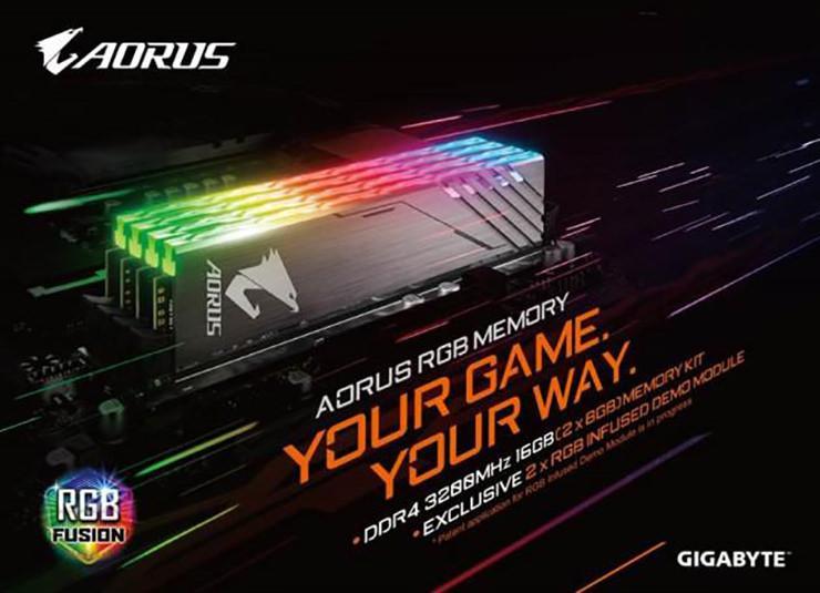 Gigabyte Aorus DDR4 RGB memory