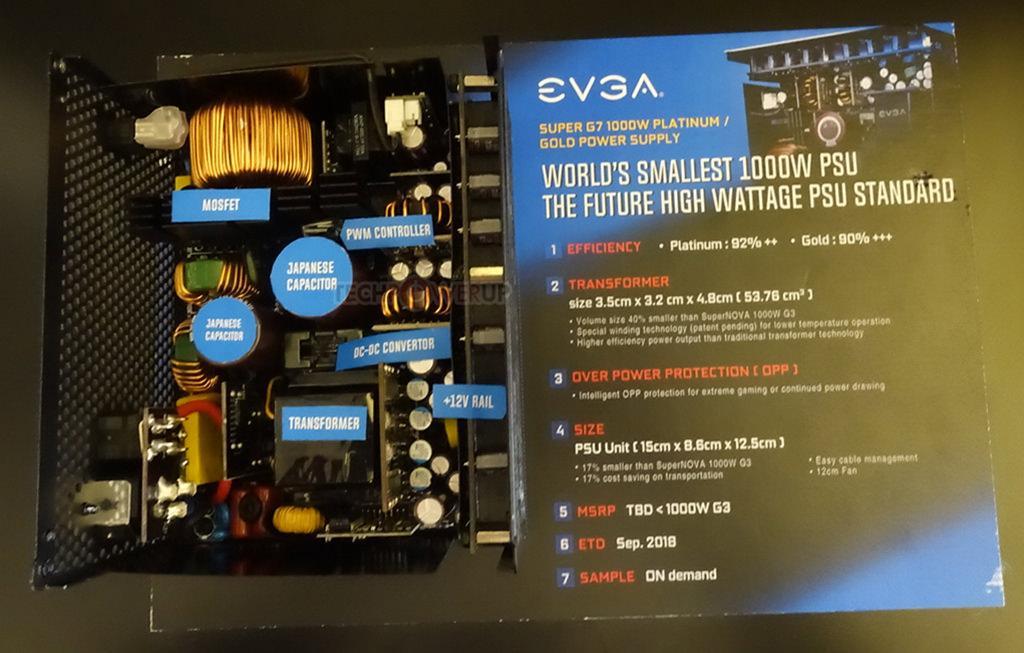 Computex 2018: стенд EVGA. Самый маленький 1000-Вт блок питания и 2000-ваттник