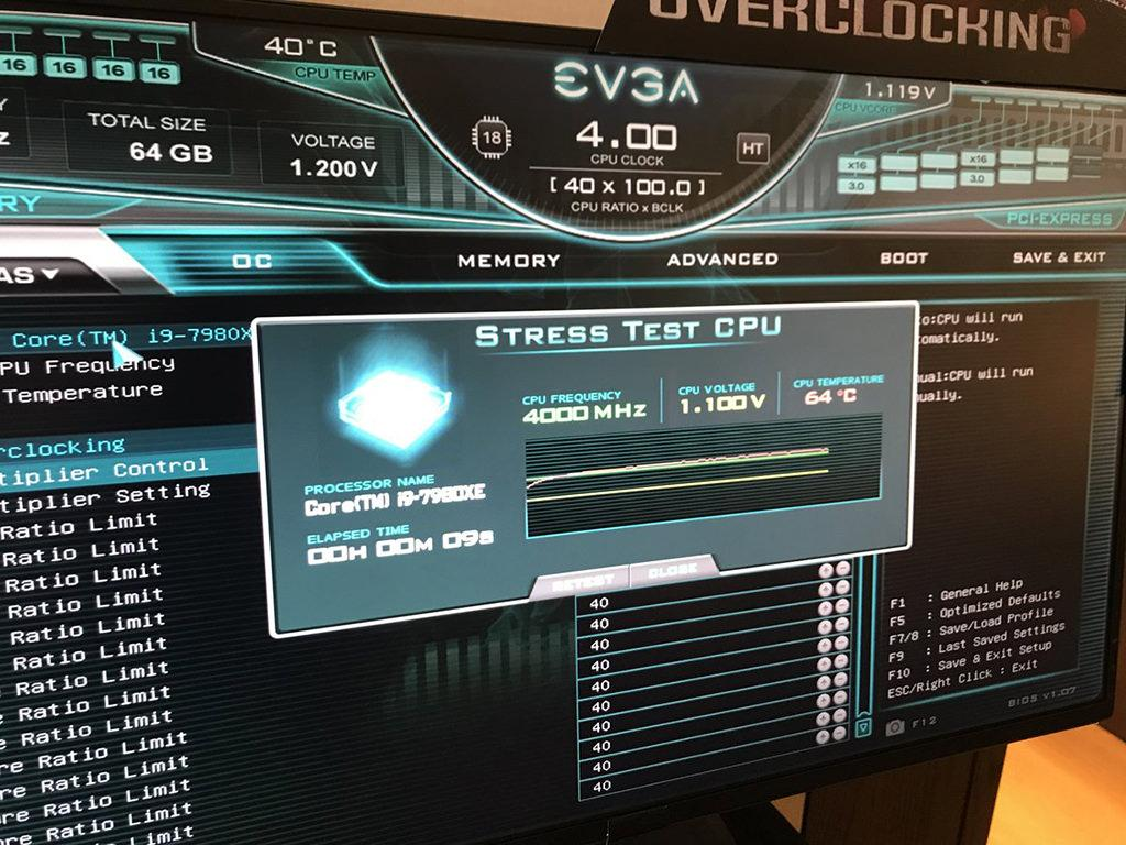 EVGA next Gen UEFI with stress test