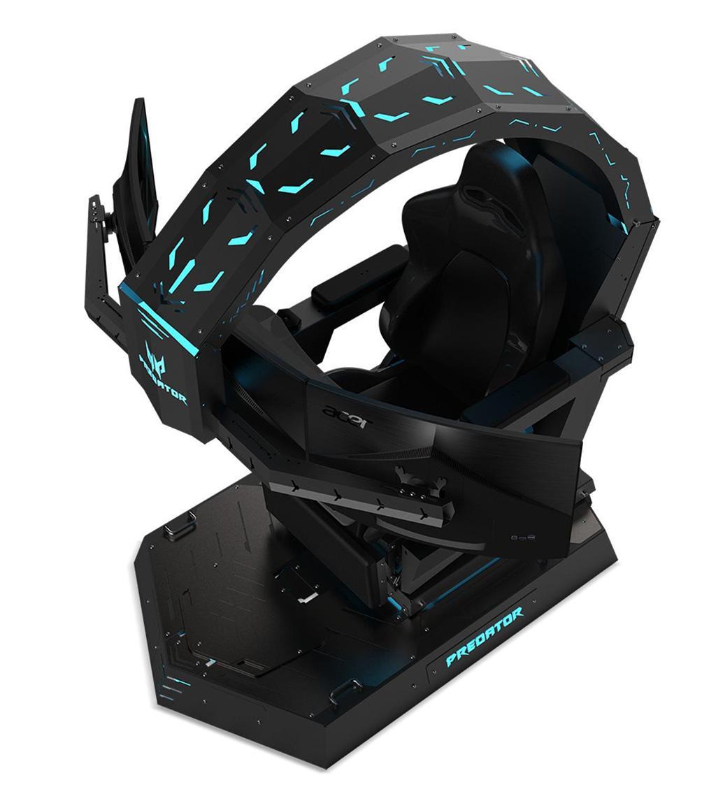 Acer Predator Thronos – футуристическое игровое кресло для трёх 27-дюймовых мониторов