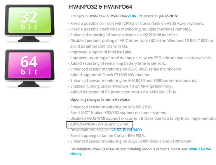 AIDA64 добавила предварительную поддержку GeForce GTX 1180?