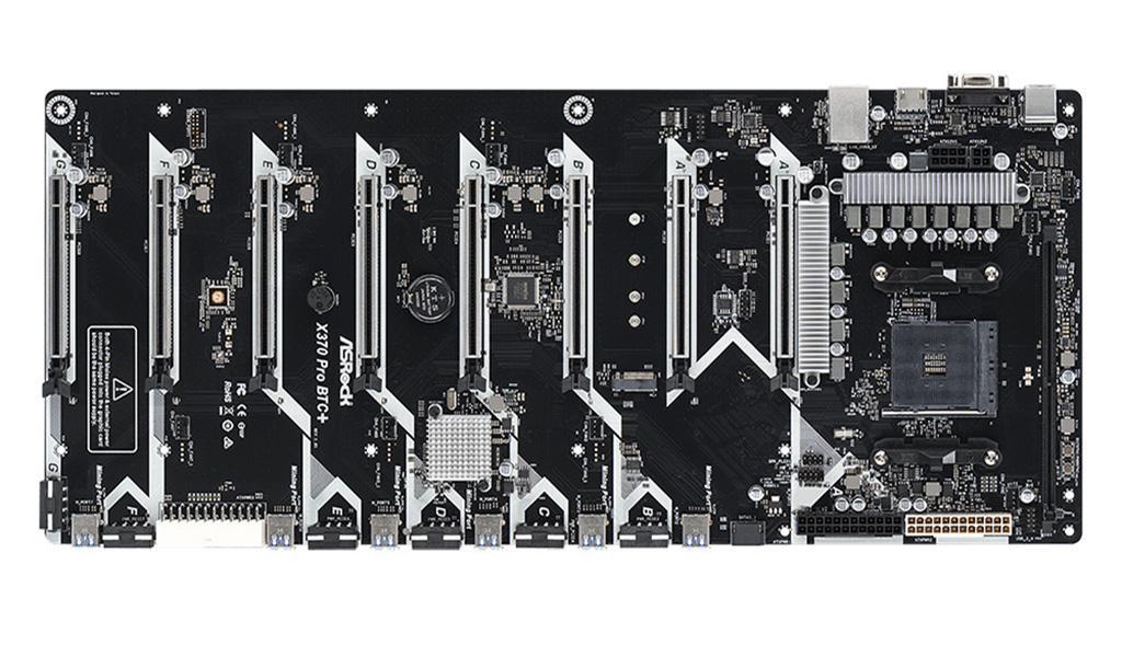 Ещё одна плата «с приветом» для майнеров – ASRock X370 Pro BTC+