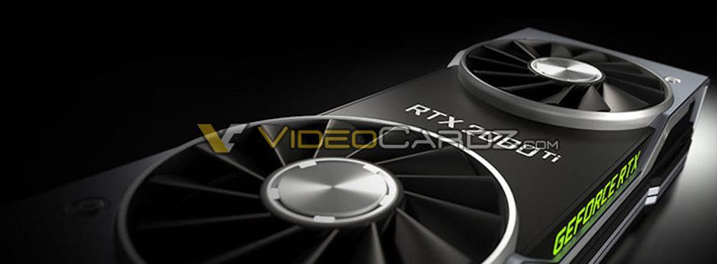 Первое изображение NVIDIA GeForce RTX 2080 Ti Founders Edition подтверждает наличие двух вентиляторов