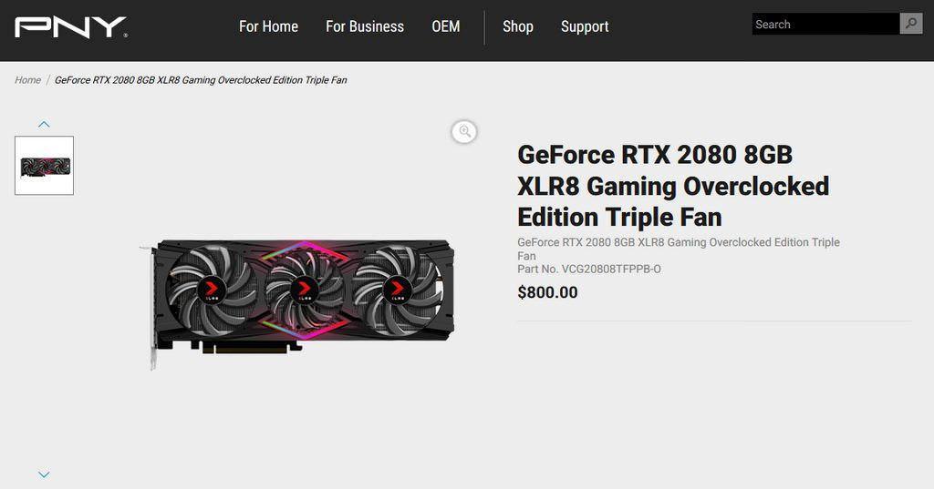 Характеристики и цены видеокарт GeForce RTX 2080 и GeForce RTX 2080 Ti больше не тайна