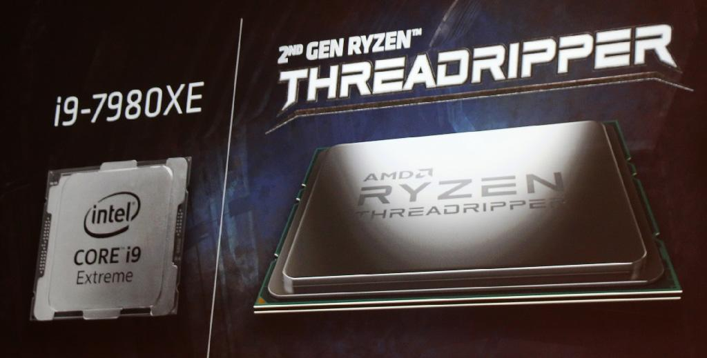 AMD Ryzen Threadripper 2990WX vs Intel Core i9-7980XE в CineBench. Результаты от AMD