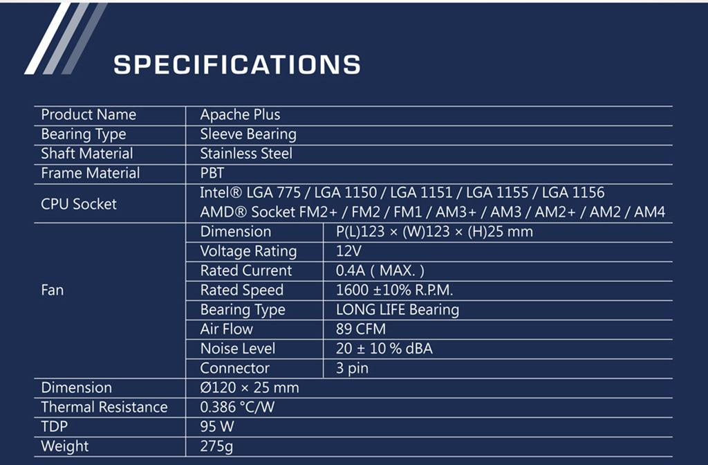Xigmatek Apache Plus – не медный CPU-кулер всего за 20$