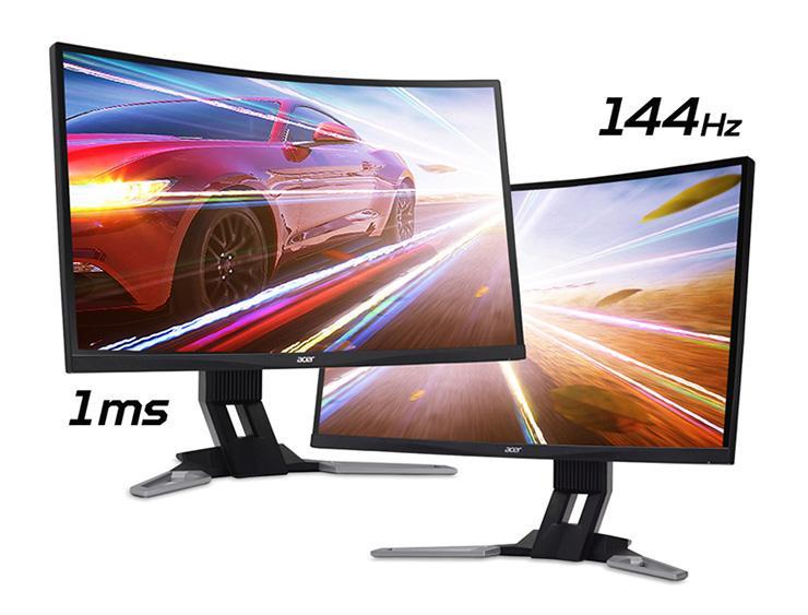Acer XZ271U и XZ321QU – пара новых WQHD-мониторов с изогнутой панелью и 144 Гц