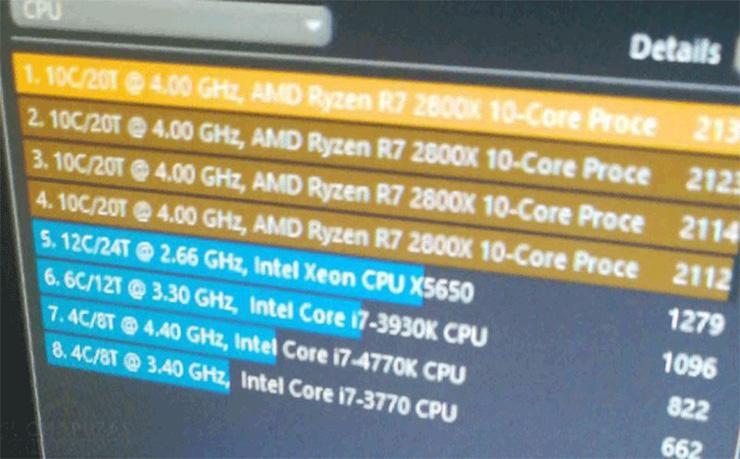 Что-то странное: 10-ядерный AMD Ryzen 7 2800X