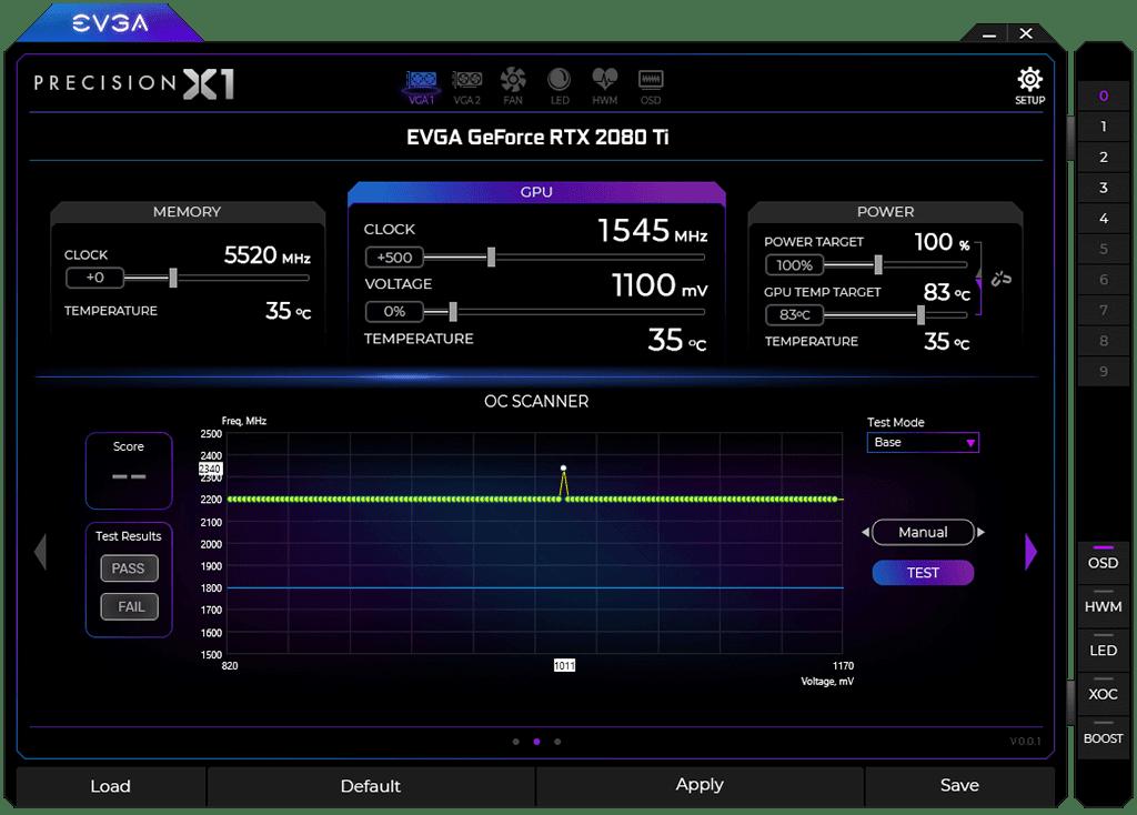 Утилита EVGA Precision X1 с поддержкой NVIDIA Scanner доступна для широких масс