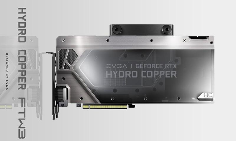 EVGA показала видеокарты GeForce RTX 2000 серий Hydro Copper и Hybrid