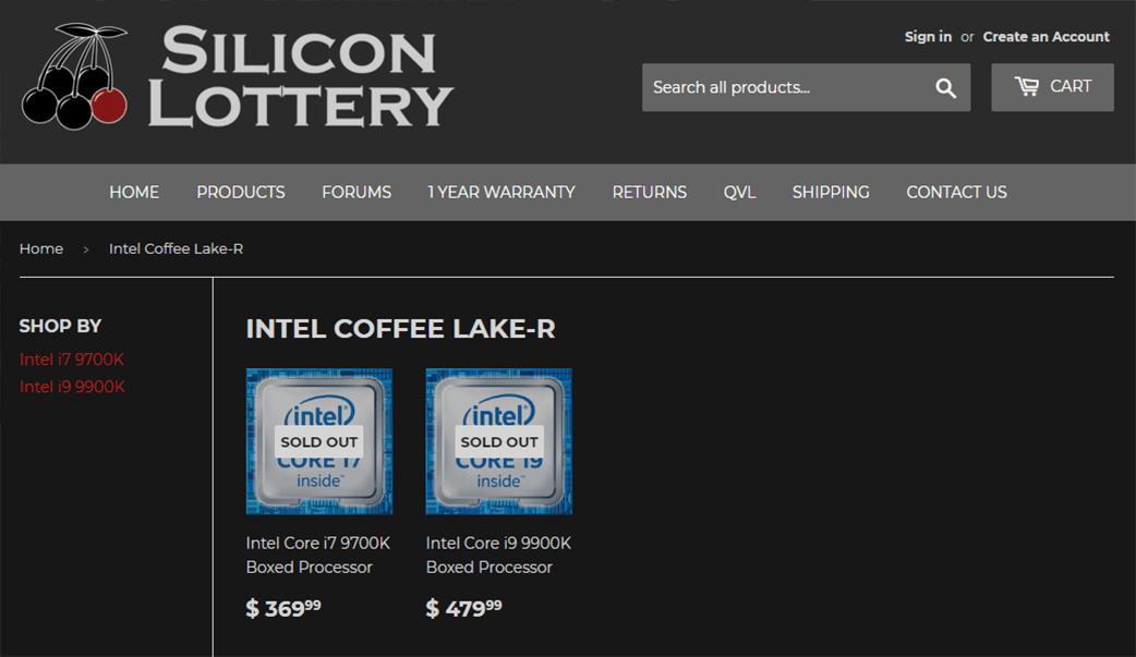 Цены Intel Core i9-9900K и i7-9700K уточнены