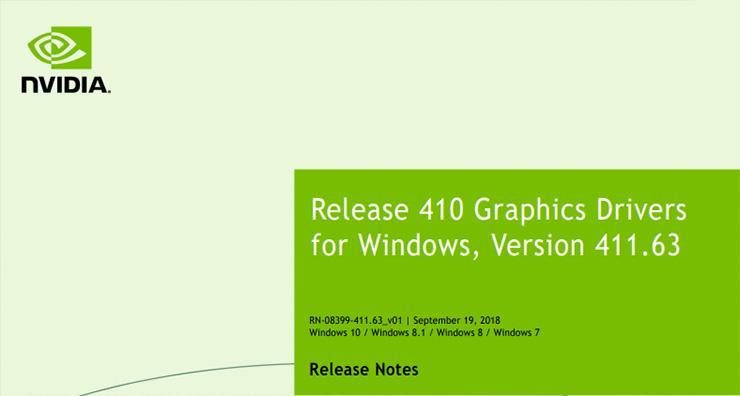 Драйвер NVIDIA GeForce обновлен (411.63 WHQL). Первый с поддержкой видеокарт NVIDIA Turing
