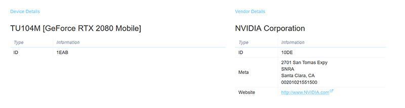 NVIDIA работает над мобильными видеокартами Turing. Замечена GeForce RTX 2080 Mobile
