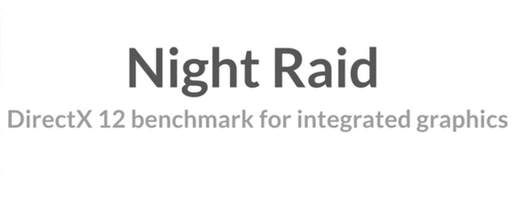 В последнем обновлении 3DMark добавили бенчмарк Night Raid для встроенных видеоядер