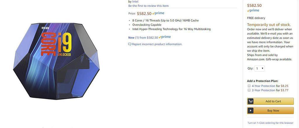 Intel Core i9-9900K получит необычную упаковку