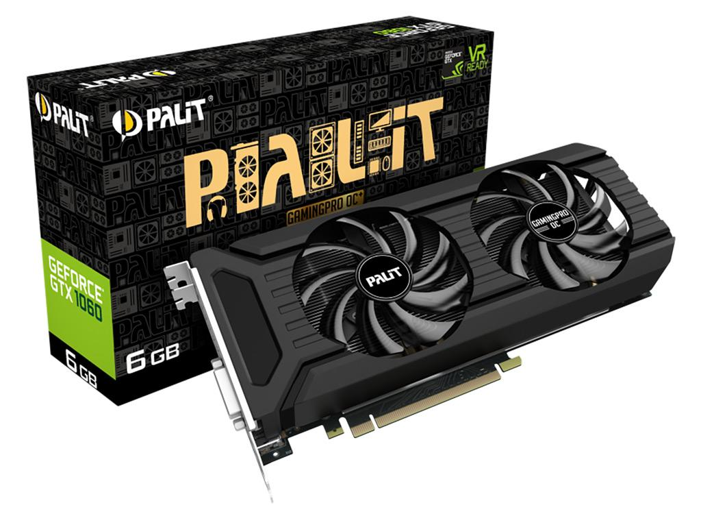 Palit GeForce GTX 1060 GamingPro OC+ - вторая 1060 с GDDR5X